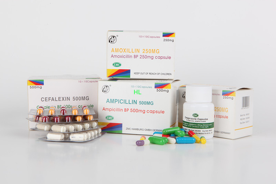 China Ampicillin kapselt 250MG 500MG BP/USP-Penicillin-Medizin ein distributeur