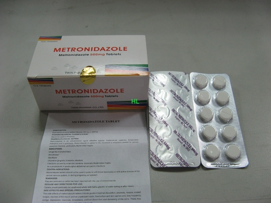 China Metronidazole Tablets 250MG 500M antibiotische BP-/USP-Medizin distributeur